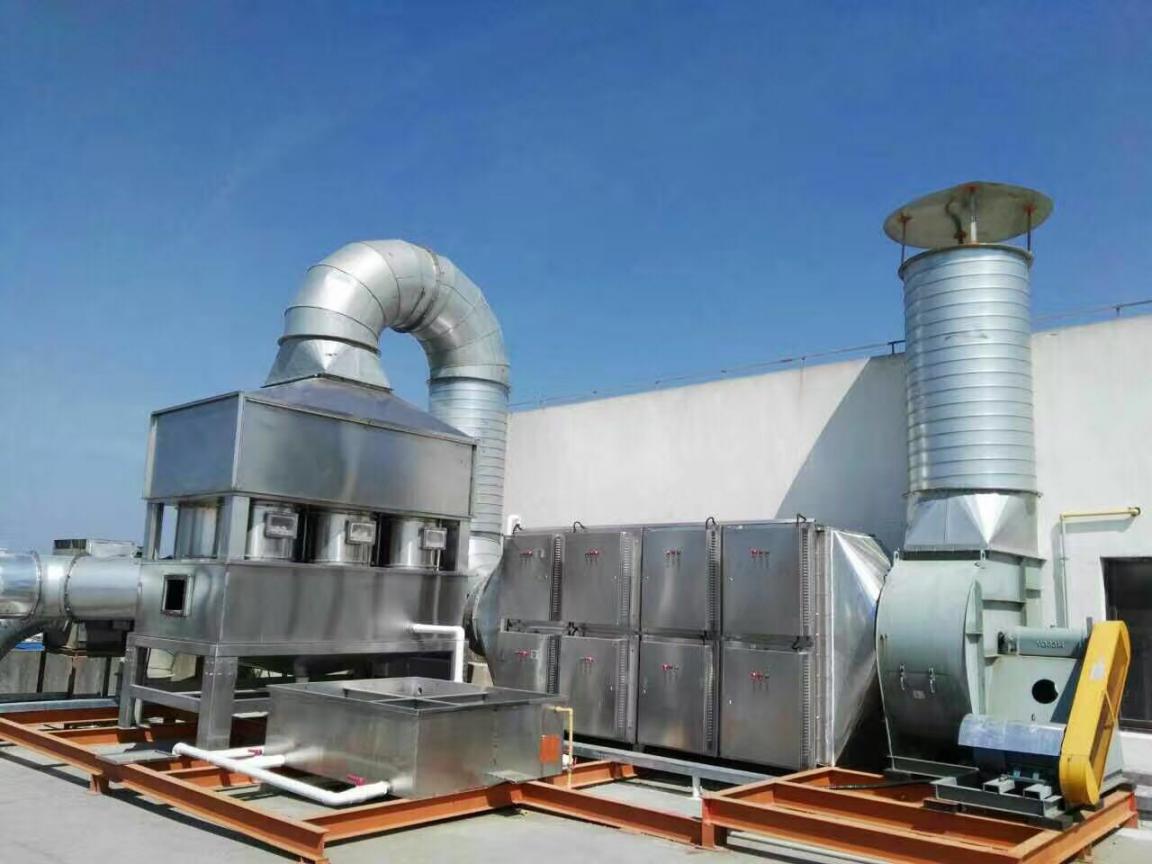 喷淋洗涤塔+UV高效光解设备